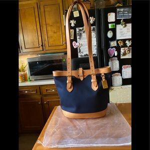 VintageDB Cabriolet Canvas Leather Shoulderbag